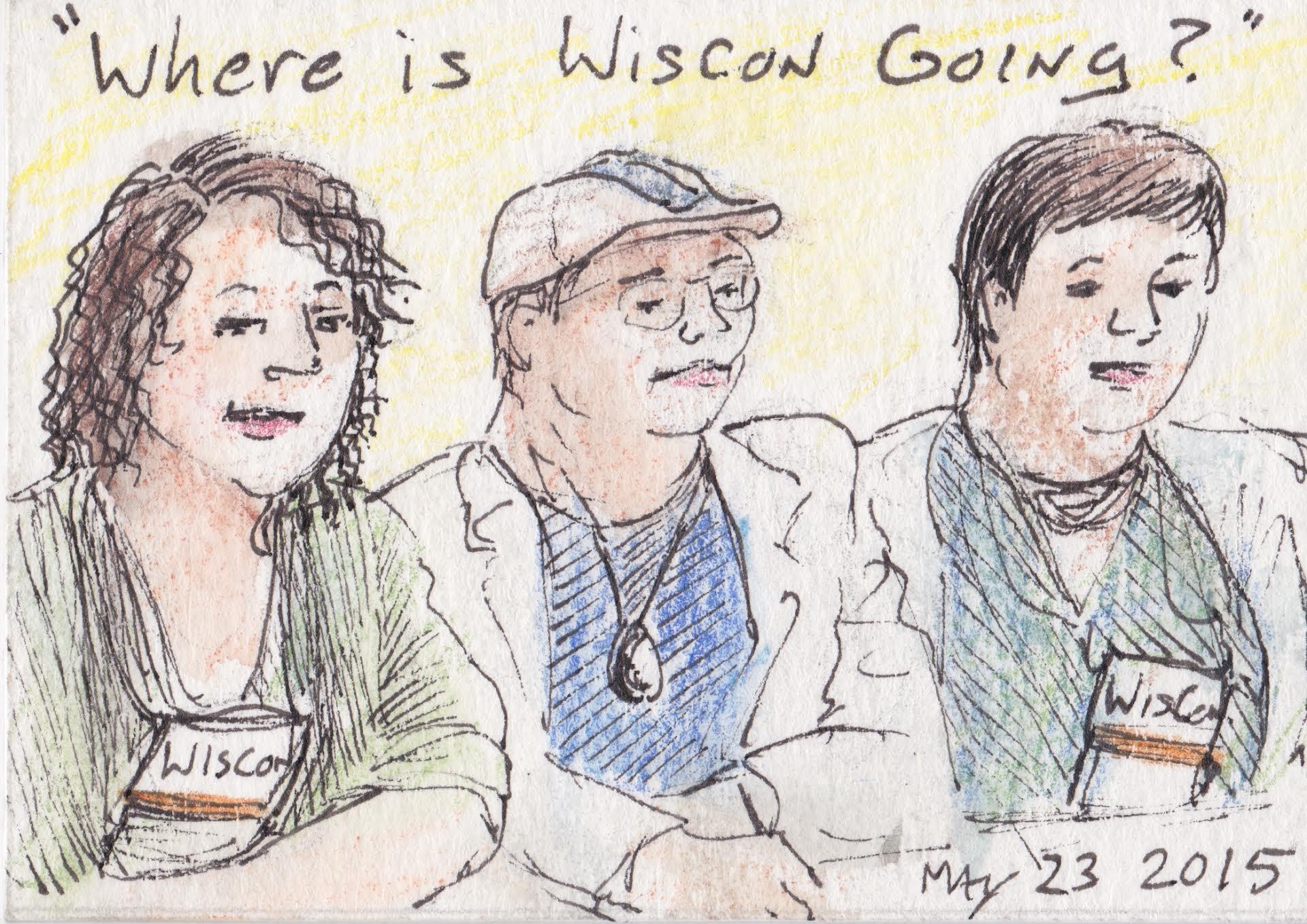 Doodle of panelists.